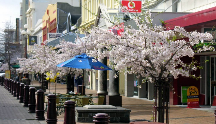 Invercargill : Spring in Esk Street, Invercargill, Southland, New Zealand, 9 September 2005