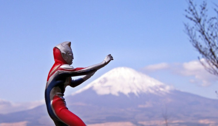 Japan: Ultraman + Mt. Fuji = JAPAN