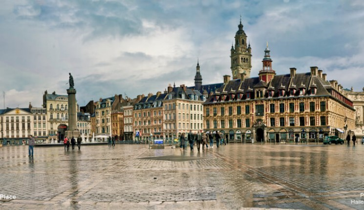 North of France : La Grande place de Lille